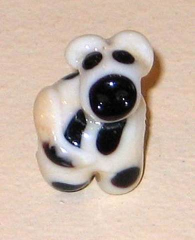Black & White Cow Bead