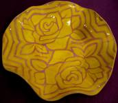 Bowl with yellow rose